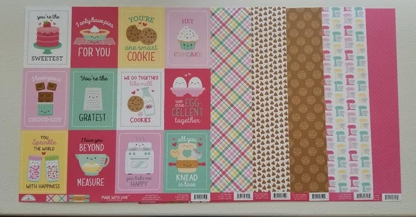Doodlebug Design Made With Love 6 pc Paper Set