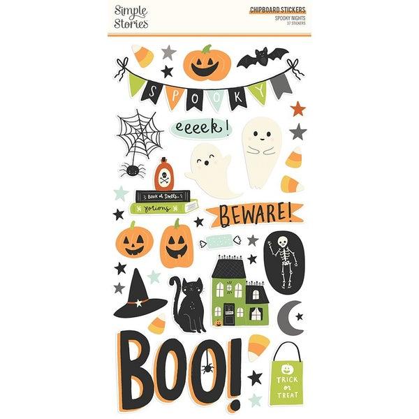 Simple Stories Spooky Nights Halloween 6 x 12 Chipboard Stickers