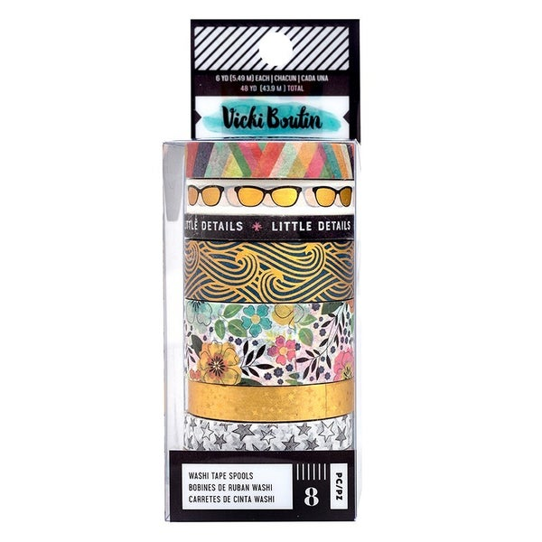 Vicki Boutin Let's Wander Collection Washi Tape with Foil Accents