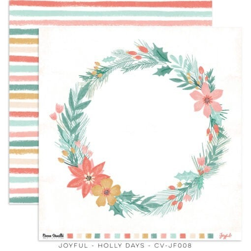 PRE ORDER Cocoa Vanilla Studio JOYFUL – HOLLY DAYS 12 x 12 Cardstock