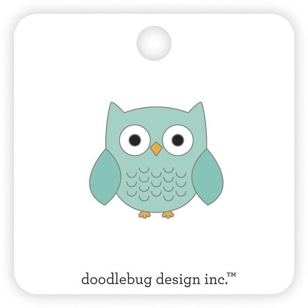 Doodlebug Design Pumpkin Spice Collection  Collectable Pins Owlbert