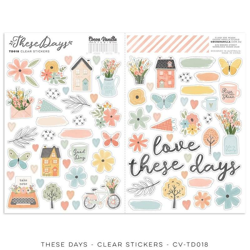 PRE ORDER Cocoa Vanilla Studio These Days Clear Stickers