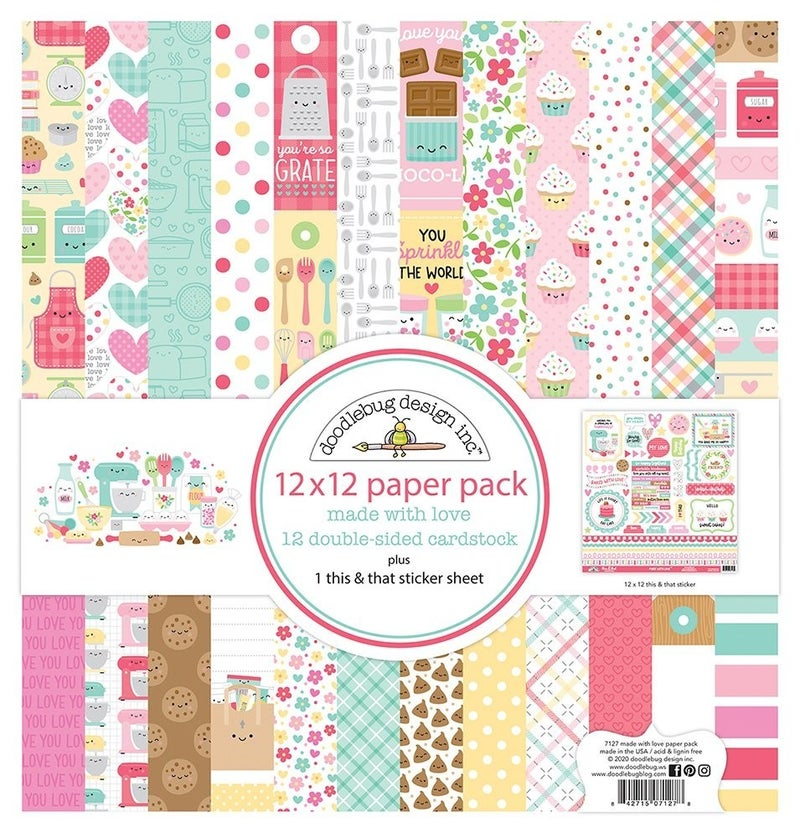 Doodlebug Design Made With Love 17 pc Happy Scrappy Bag
