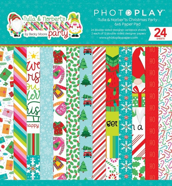 """Photoplay Tulla & Norbert's Christmas Party 6""""x6"""" Paper Pad"""
