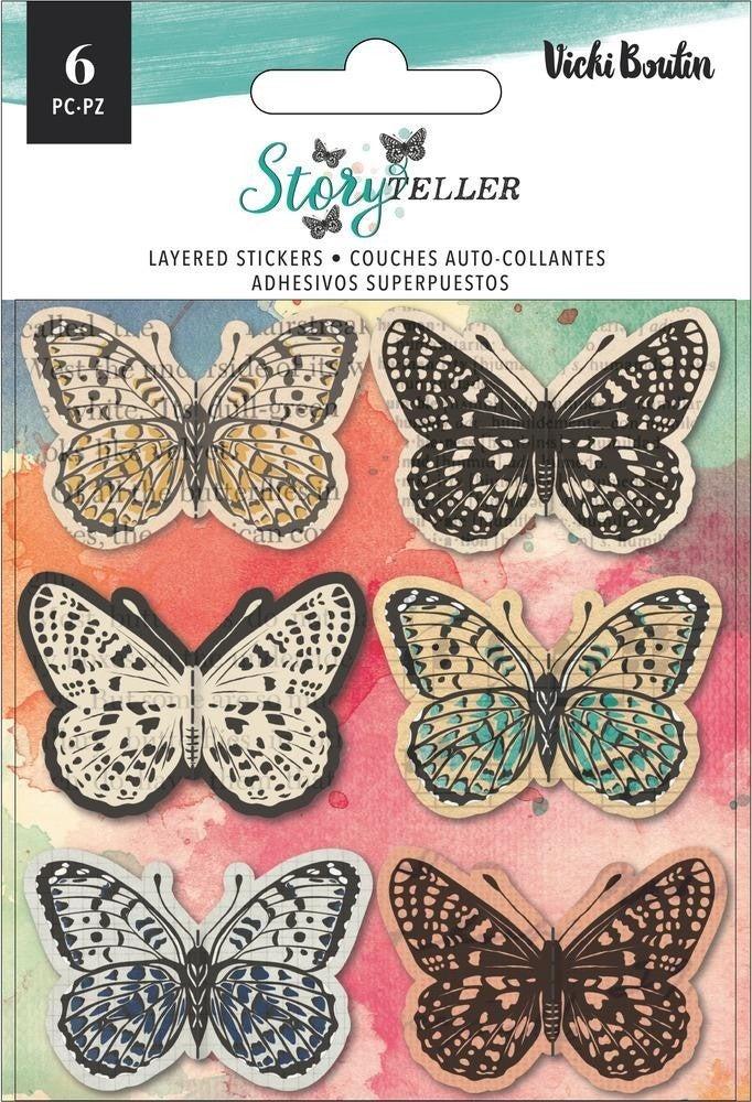 Vicki Boutin - Storyteller - Butterflies Layered Stickers