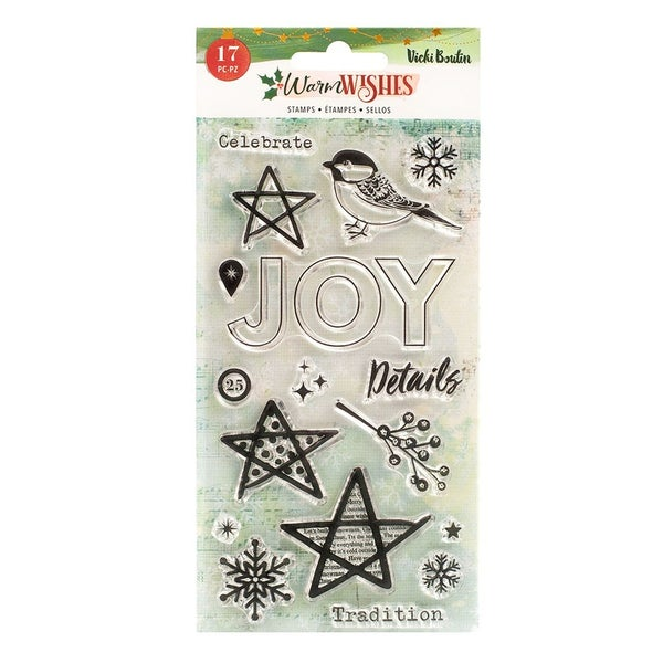 Vicki Boutin Warm Wishes Christmas Clear Acrylic Stamps