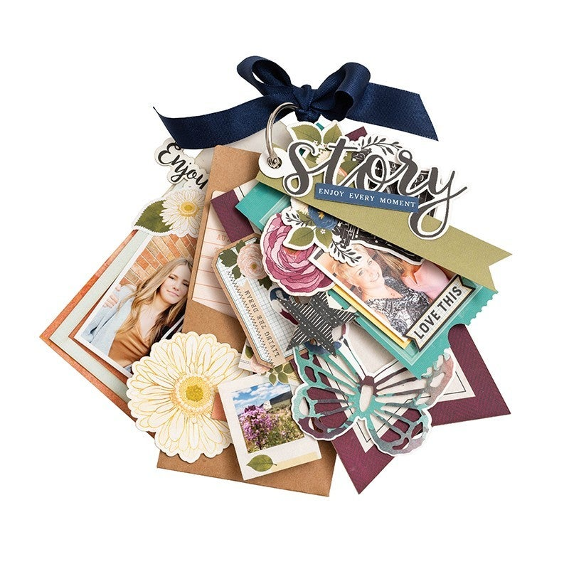 Vicki Boutin Storyteller Tags and Journaling Pieces with Glitter Accents