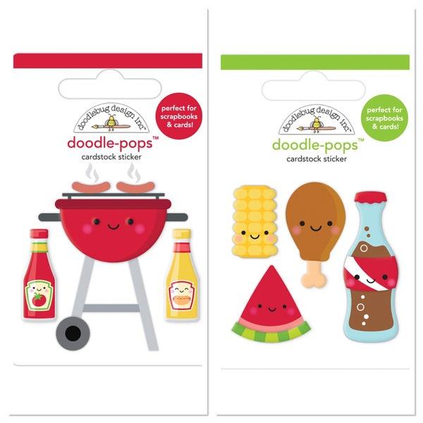 Doodlebug Bar-B-Cute 2 pc Doodlepop Set