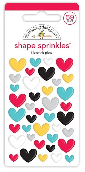 Doodlebug Design - Fun At The Park Sprinkles I Love This Place  HEARTS