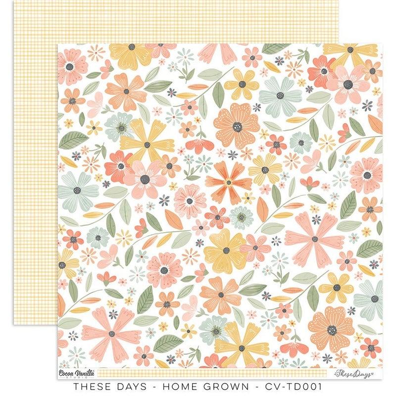 PRE ORDER Cocoa Vanilla Studio THESE DAYS – HOME GROWN 12 x 12 Paper