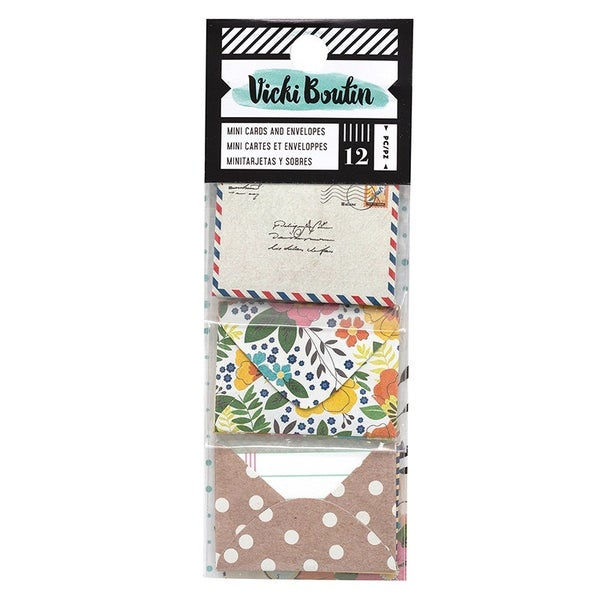Vicki Boutin Let's Wander Collection - Mini Envelopes with Cards