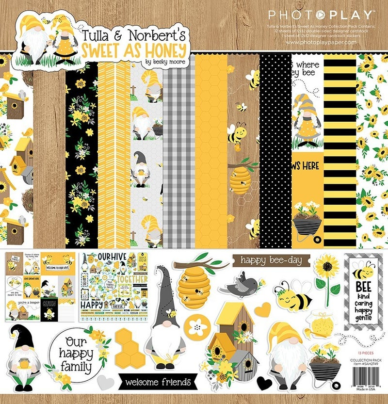Photo Play Tulla & Norbert's Sweet as Honey 2 pc Happy Scrappy Bag