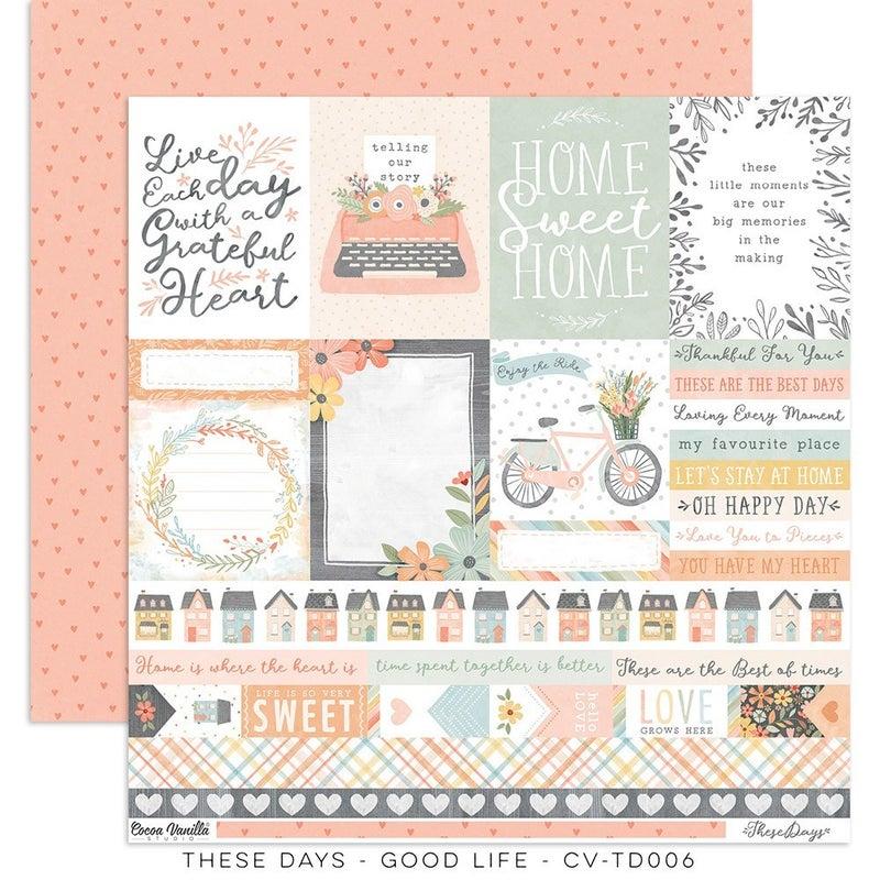 PRE ORDER Cocoa Vanilla Studio These Days 12 x 12 Collection Kit
