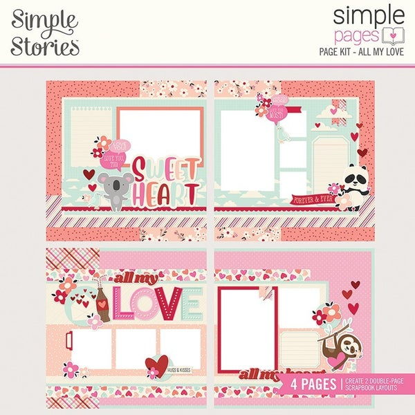 Simple Stories Sweet Talk Simple Pages Page Kit  All My Love