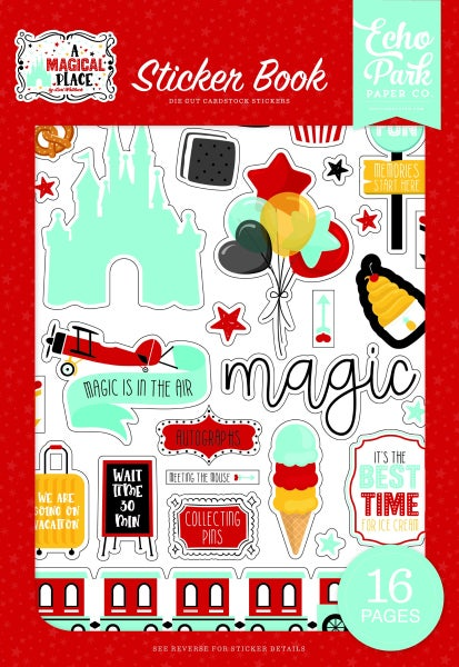 Echo Park  A Magical Place Cardstock Sticker Book