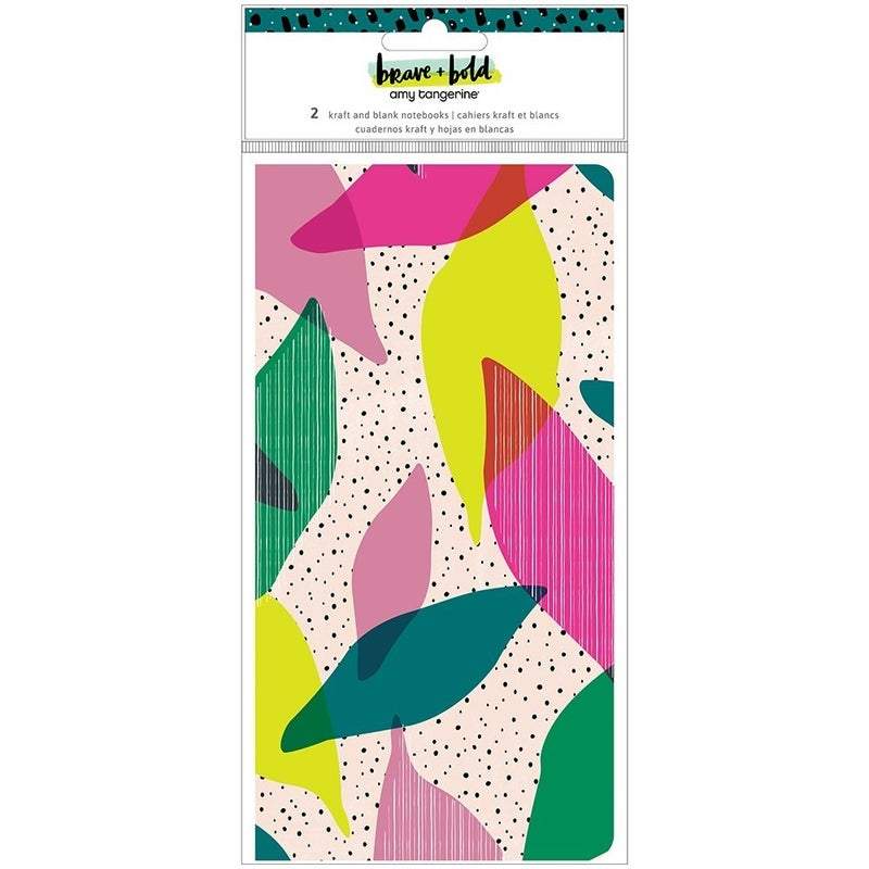 Amy Tangerine - Brave and Bold Collection - Travelers Notebook - 2 Pack