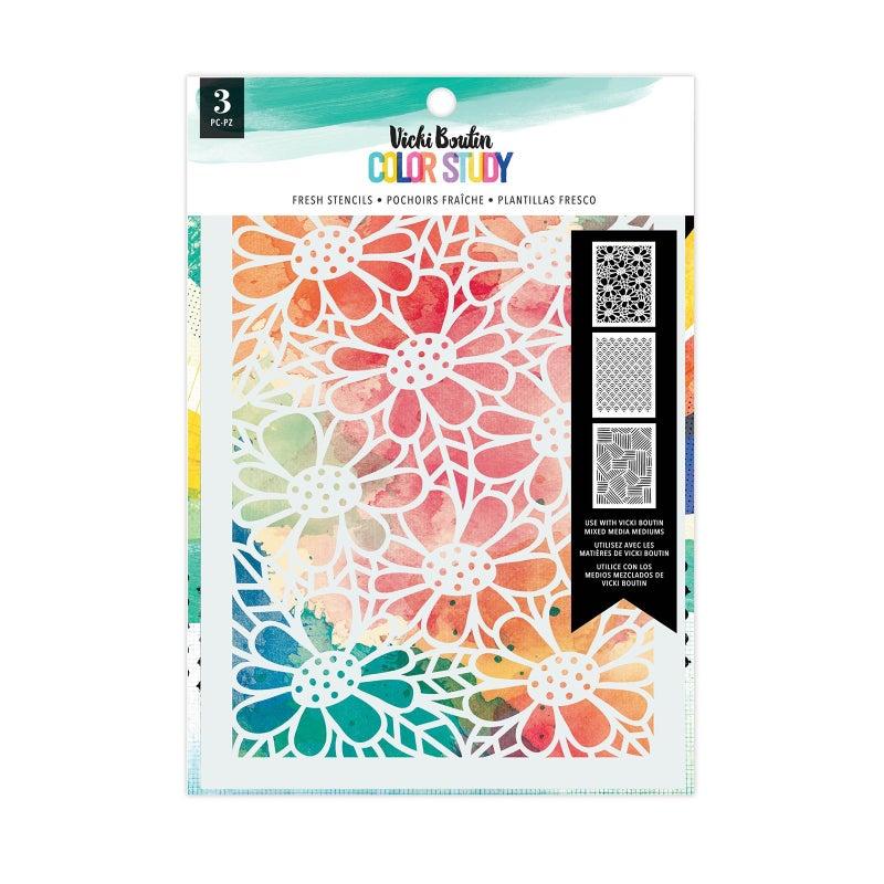 Vicki Boutin  Color Study  Stencils - Fresh