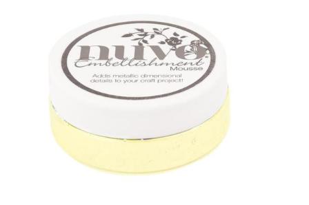Nuvo - Embellishment Mousse - Custard Cream - 827n