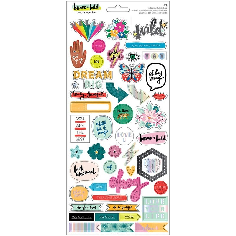 Amy Tangerine - Brave and Bold  6 x 12 Cardstock Sticker Sheet