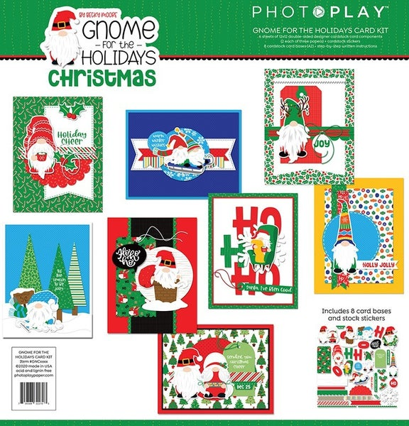 PhotoPlay Gnome for the Holidays Christmas Card Kit