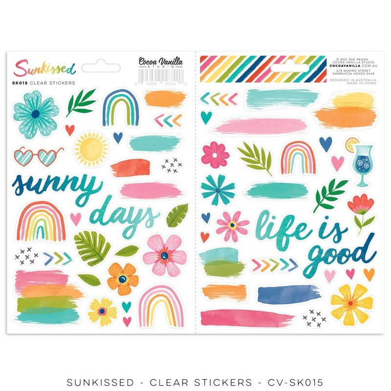 Cocoa Vanilla Studio SUNKISSED CLEAR STICKERS