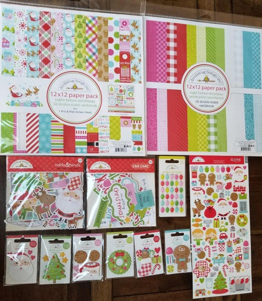 Doodlebug Design Night Before Christmas 12 pc Happy Scrappy Bag