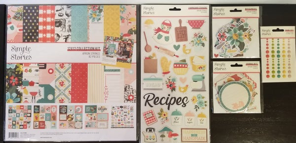 Simple Stories Apron Strings 5 pc Happy Scrappy Bag