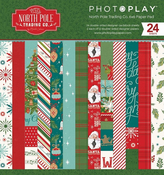 """Photoplay North Pole Trading Co. 6""""x6"""" Paper Pad"""