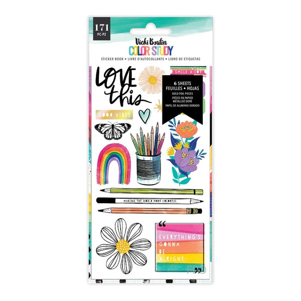 Vicki Boutin Color Study Sticker Book  Gold Holographic Foil Accent