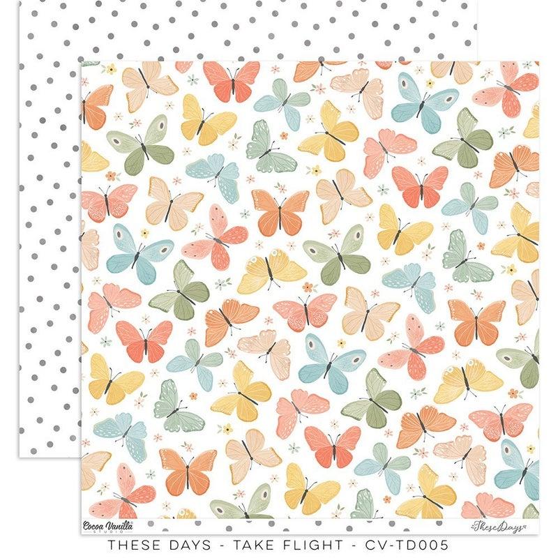 PRE ORDER Cocoa Vanilla Studio Take Flight – HOME GROWN 12 x 12 Paper