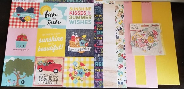 Simple Stories Summer Farmhouse Mini Happy Scrappy Bag