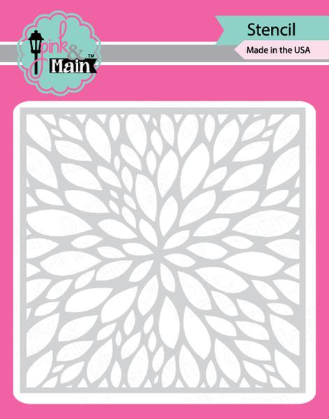 Pink & Main Petals Stencil