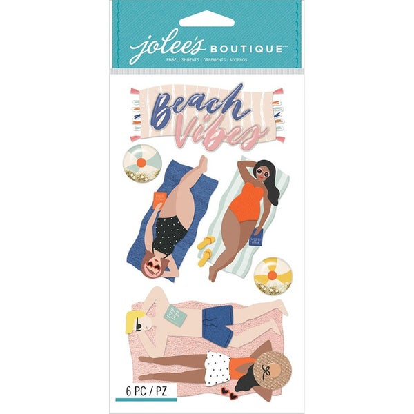 olee's Boutique -3 Dimensional Stickers - Lounging Beach Vibes