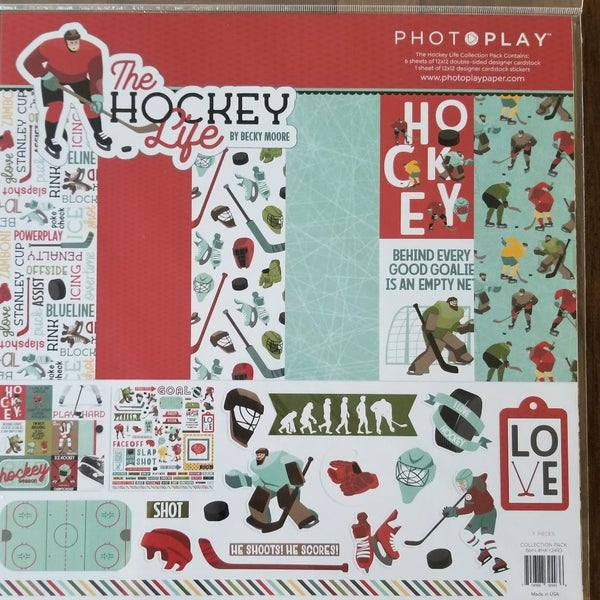 PhotoPlay The Hockey Life 12 x 12 Kit