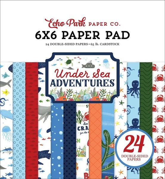 """Echo Park Under Sea Adventures 6""""x6"""" Paper Pad"""