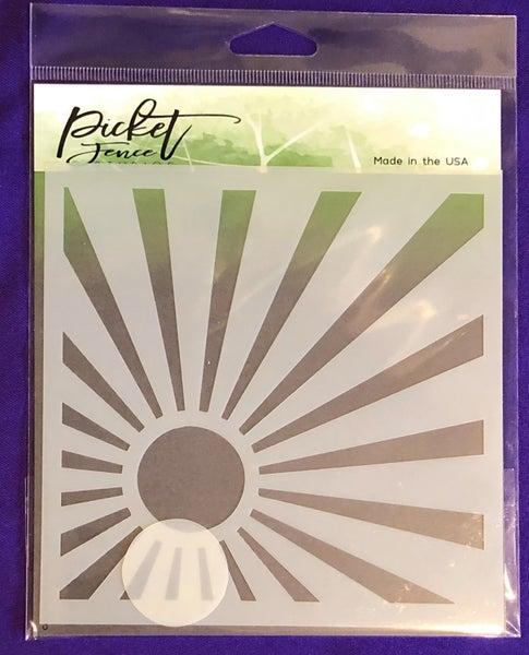 Picket Fence Sunburst Stencil