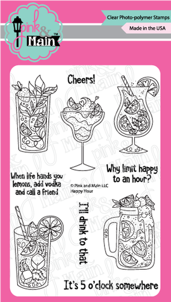 Pink & Main Happy Hour Stamp