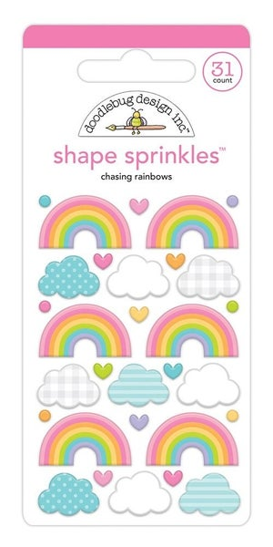 Doodlebug Design -Fairy Garden  Sprinkles Chasing Rainbows