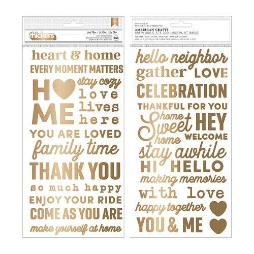 Jen Hadfield The Avenue 2nd Ave Thickers  Phrase Puffy Gold Foil