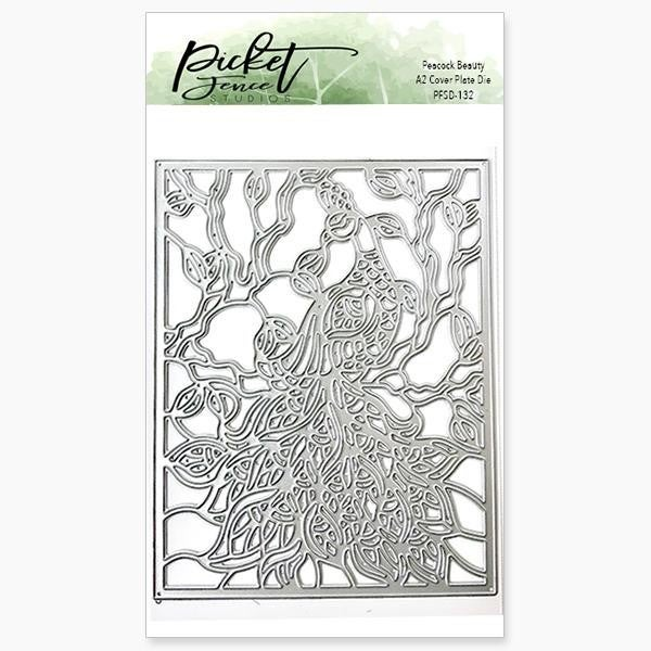 Picket Fence Studios Peacock Beauty Cover Plate Die