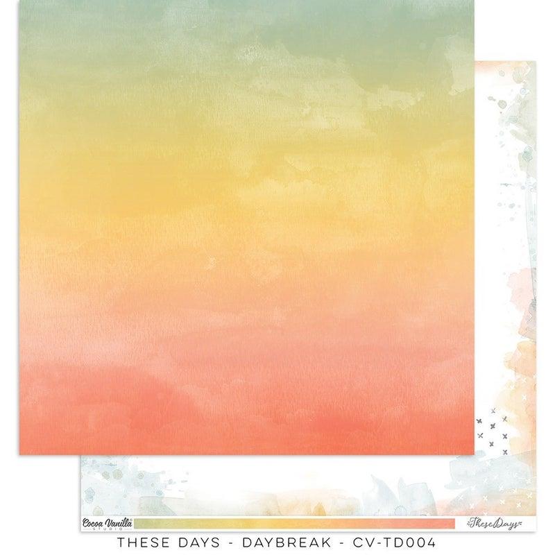 PRE ORDER Cocoa Vanilla Studio THESE DAYS – Daybreak 12 x 12 Paper