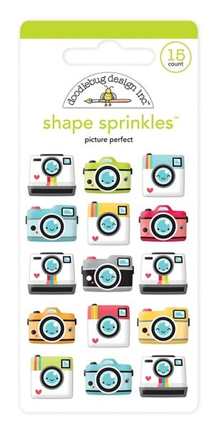 Doodlebug Design Enamel Shapes Picture Perfect Cameras Sprinkles