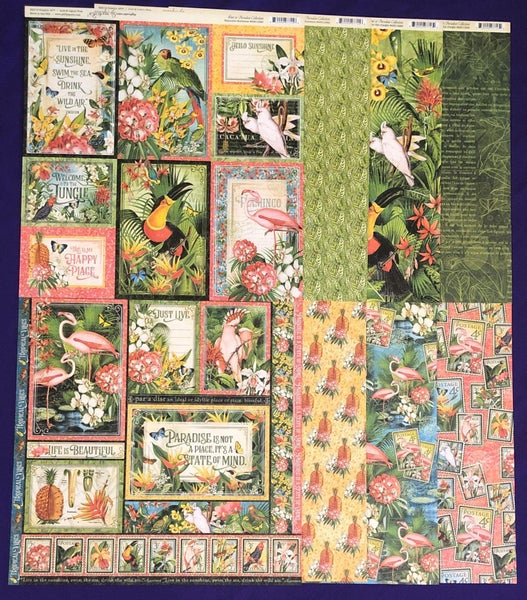 Graphic 45 Lost in Paradise 8 pc set