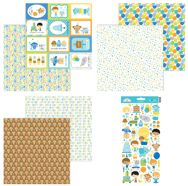 Doodlebug Design Party Time 7 pc set