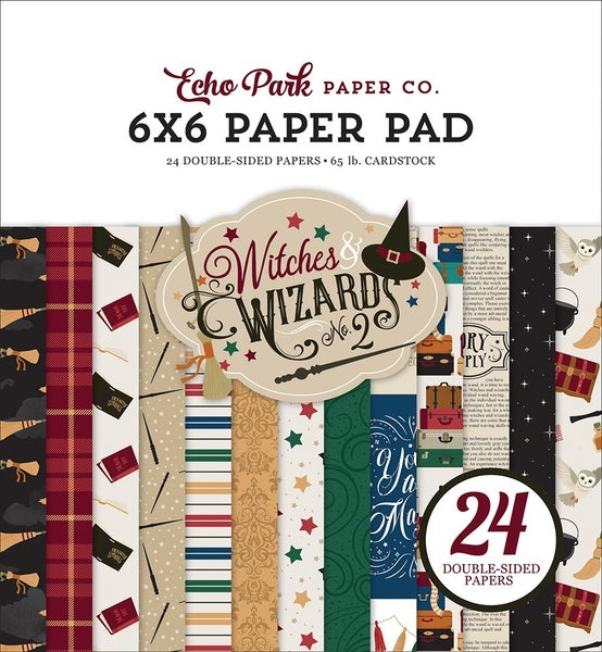 """Echo Park Witches & Wizards No. 2 6""""x6"""" Paper Pad"""