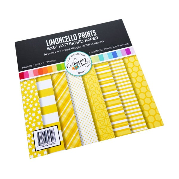 Catherine Pooler Limoncello Patterned Paper 6 x 6