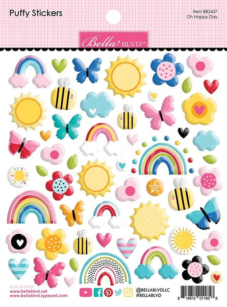 Bella Blvd You Are My Sunshine - Oh Happy Day Puffy Stickers