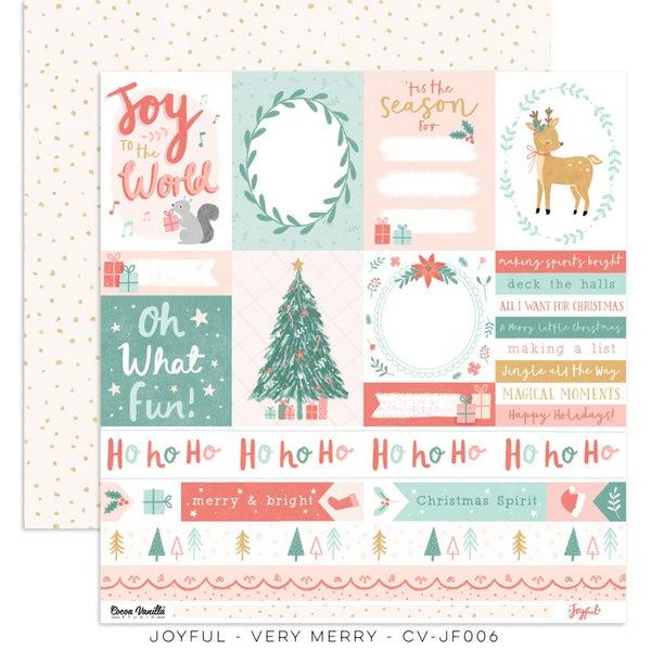PRE ORDER Cocoa Vanilla Studio JOYFUL – VERY MERRY 12 x 12 Cardstock