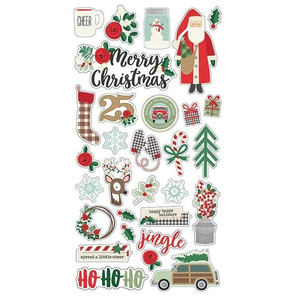 Simple Stories Merry & Bright 6x12 Chipboard RETIRED
