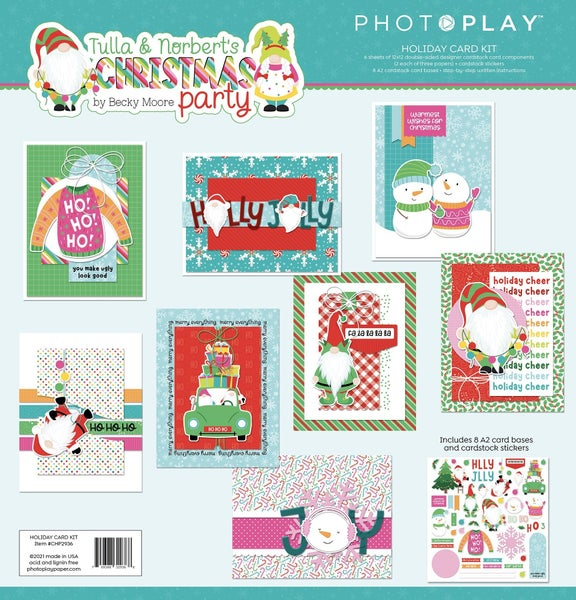 Photoplay Tulla & Norbert's Christmas Party Card Kit
